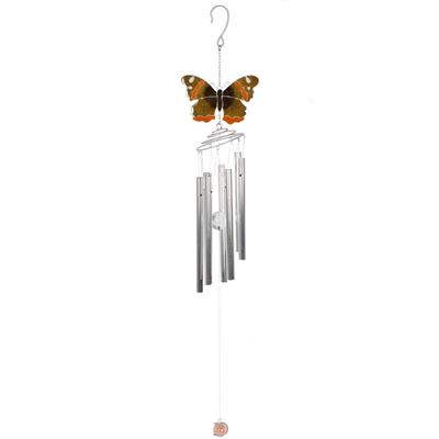 Red Admiral Butterfly Windchime 66cm