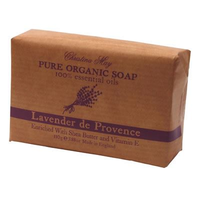 Lavender Organic Soap 110g by Christina May