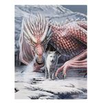 Red Dragon & Wolf Alliance Canvas Picture by Lisa Parker