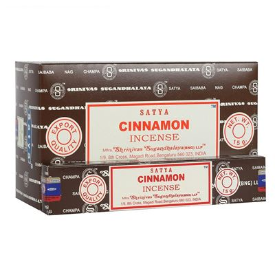 Cinnamon Satya Incense Sticks 15g Box of Twelve Special Offer
