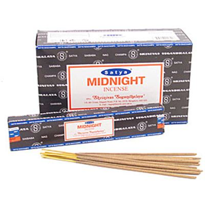Midnight Nag Champa Incense Sticks 15g Box of Twelve Special Offer