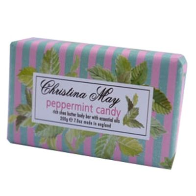 Peppermint Candy Soap Bar 200g by Christina May