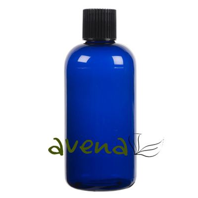 Plastic Bottles Blue with Black Screw On Cap 250ml