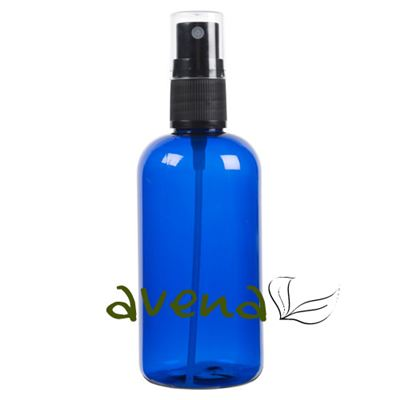 Plastic Bottles Blue with Mist Sprayer  Atomiser Cap 100ml