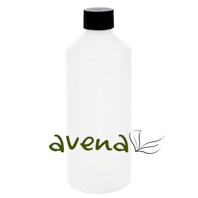 Plastic Bottles Frosted Slim with Black Cap 500ml