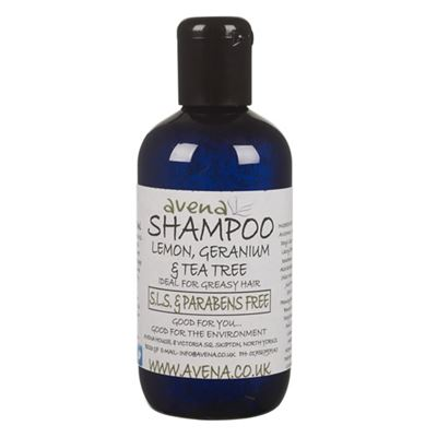 Shampoo With Lemon, Geranium & Tea Tree - SLS & paraben free shampoo