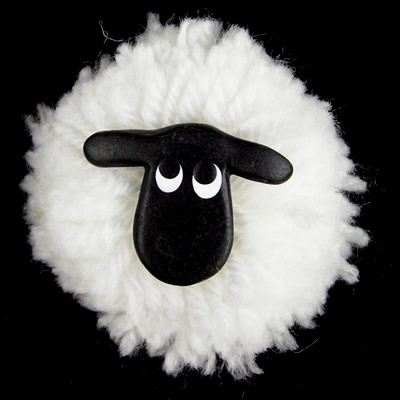 Sheep Pom Pom Fridge Magnet