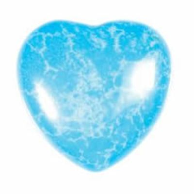Turquoise Howlite Heart Small