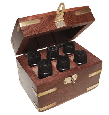 Essential Oil Box for 6 Bottles