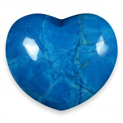 Blue Howlite Heart Large