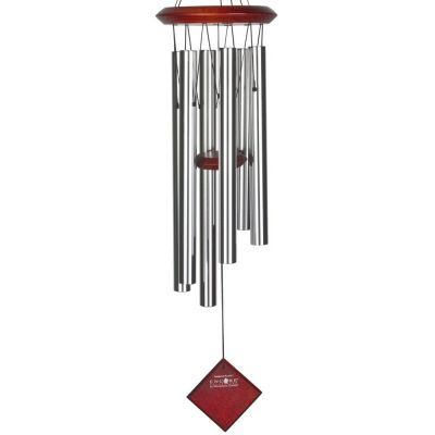 Pluto Chime Silver with Dark Wood Finish