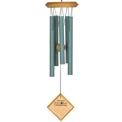 Mars Chime Verdigris Light Wood Finish