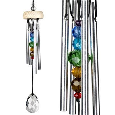 Crystal Gem Drop Wind Chime With Chakra