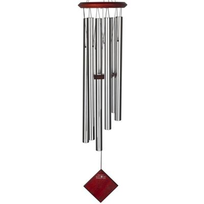 Earth Chime Silver with Dark Wood Finish