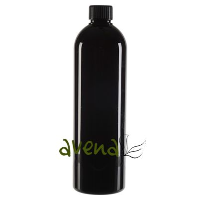 Plastic Bottles Black with Black Screw On Cap 500ml