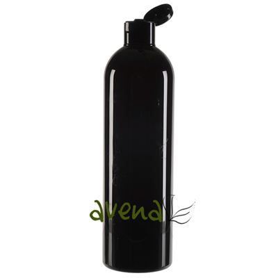 Plastic Bottles Black with Black Disc Cap 500ml