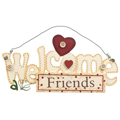 Welcome Friends Hanger