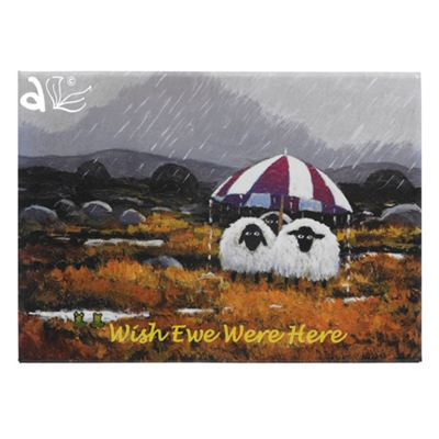 Wish Ewe Were Here Sheep Magnet by Thomas Joseph