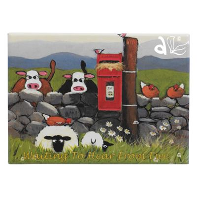 Waiting To Hear From Ewe Sheep Magnet by Thomas Joseph