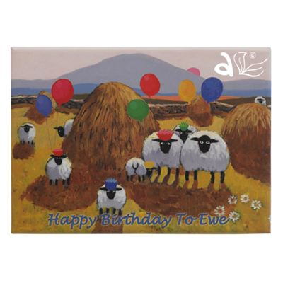 Happy Birthday To Ewe Sheep Magnet by Thomas Joseph