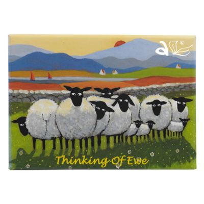 Thinking Of Ewe Sheep Magnet by Thomas Joseph