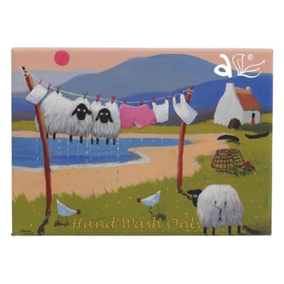 Hand Wash Only Sheep Magnet by Thomas Joseph