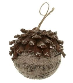 Pinecone with Music Hanging Decoration
