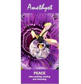 Amethyst Agogo Necklace Natural Jewellery for Peace