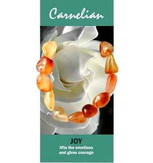 Carnelian Bracelet Natural Jewellery for Joy