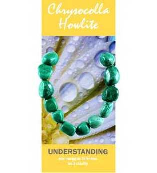 Chrysocolla Howlite Bracelet Natural Jewellery for Understanding
