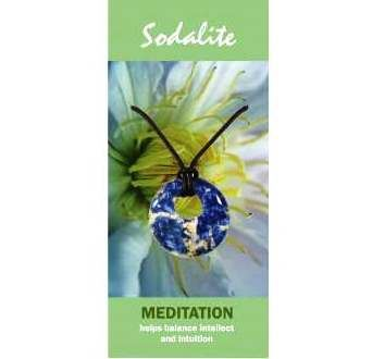 Sodalite Agogo Necklace Natural Jewellery for Meditation