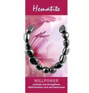 Hematite Bracelet Natural Jewellery for Willpower