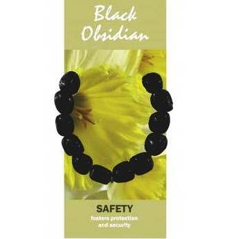 Black Obsidian Bracelet Natural Jewellery for Safety