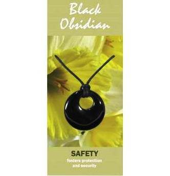 BLACK OBSIDIAN NECKLACE/PENDANT AGOGO FOR SAFETY YGVkk6jP9M