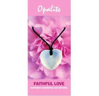 Opalite Heart Necklace Natural Jewellery for Faithful Love
