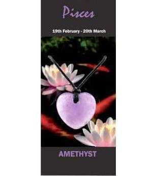 Pisces Natural Jewellery Heart Necklace