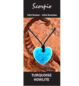 Scorpio Natural Jewellery Heart Necklace