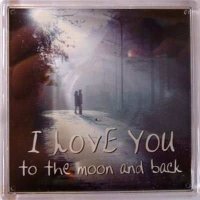 I LOVE YOU to the moon and back Fridge Magnet 135