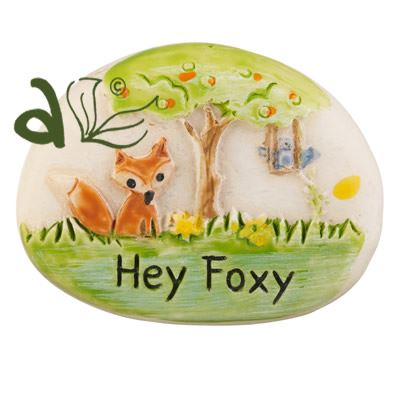 Hey Foxy Decorative Pebble