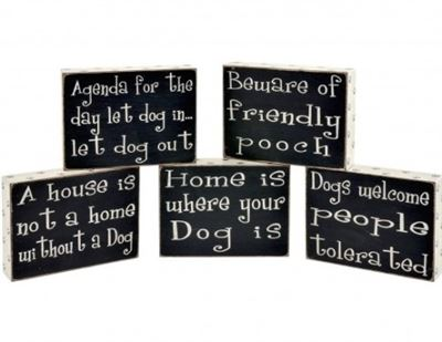 Dog Pawprint Word Blocks