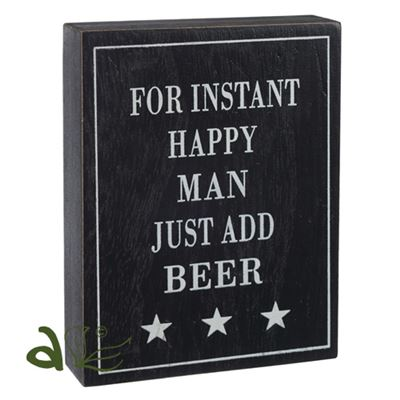 Instant Happy Man Wooden Word Block