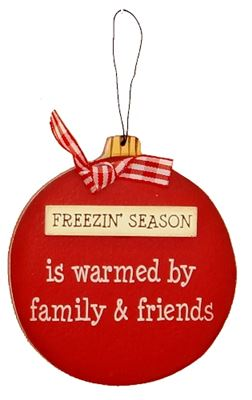 Freezin' Season Wooden Bauble Hanger
