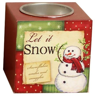 Let It Snow Tea Light Block