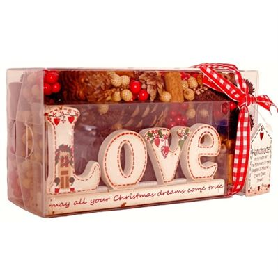 Love Handmade Christmas Cone Box