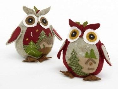 Beany Owl with Fir Tree Scene