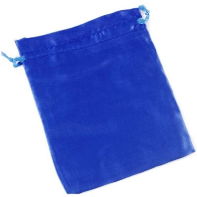 Dark Blue Satin Pouch