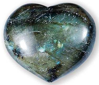 Labradorite Heart Large