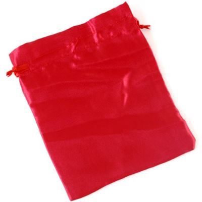 Red Satin Drawstring Bag