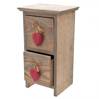 Drawer Set with Red Hearts