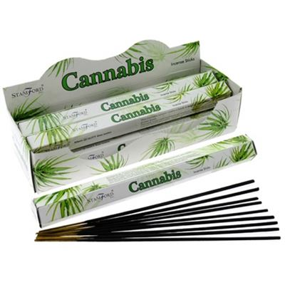 Cannabis Incense Sticks Hexagonal Pack Stamford 20g